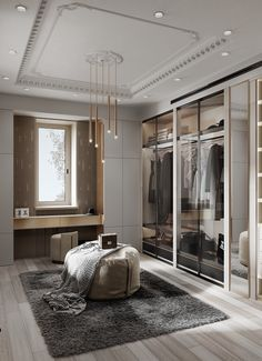 Feeling inspired to revamp your closet? We have a few splendid and imposing ideas! Walk In Closet Design, Bedroom Closet Design, Home Room Design, Closet Designs, Home Interior Design, House Design, Office Designs, Kitchen Interior, Design Design