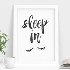Sleep In watercolor Typography Poster Wall Decor Motivational Print Inspirational Poster Home Decor. Brighten your home with our exclusive fine art print! Designed, printed and hand-finished in our studio in Buckinghamshire, England using locally sourced suppliers and fade resistant inks onto exquisite quality museum archival paper. Exclusively available through Amazon Handmade! Our prints are produced in short, limited edition runs... so be quick! Only a limited number of prints left! It…