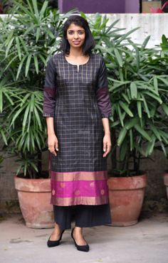 Irresistible Silk Kurtis From Aavaranaa Silk Kurti Designs, Churidar Designs, Kurta Designs Women, Kurti Designs Party Wear, Dress Designs, Long Kurti Patterns, Stitching Dresses, Sari Dress, Party Wear Dresses