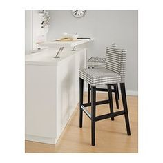 "HENRIKSDAL Bar stool with backrest - 30x19 "" - IKEA"