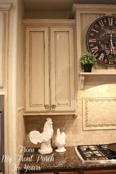 I stil am working on finishing up the remainder of the cabinets but am just thrilled with how far our kitchen has come from where we first started.