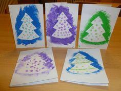Kliknutím zavřít Preschool Christmas, Christmas Crafts For Kids, Christmas Art, Winter Christmas, Handmade Christmas, Xmas, Christmas Tree Cards, Winter Art, Craft Activities