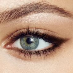 Edgy Makeup, Makeup Eye Looks, Eyeliner Looks, No Eyeliner Makeup, Cute Makeup, Pretty Makeup, Skin Makeup, Eyeliner Pencil, Black Eyeliner