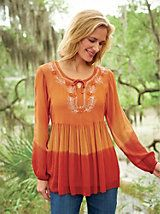 """""""Loved everything about it. Would recommend to anyone."""" ~ Embellished Empire Waist Peasant Top from Bedford Fair"""
