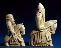 The mounts of the Lewis chessmen look very much like Icelandic horses. Does that mean the chessmen were made in Iceland? Probably not, as I explain in Ivory Vikings. Viking Life, Medieval Life, Viking Art, Medieval Art, Collections D'objets, Medieval Games, Georges Braque, Norse Vikings, Historical Art