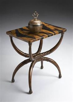 Heritage Brown Wood Accent Table