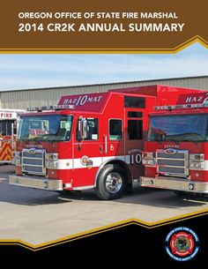 Community Right to Know annual summary, by the Oregon State Fire Marshal