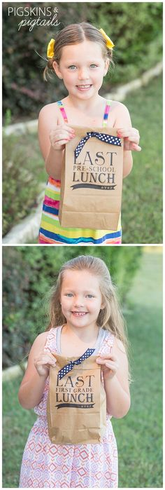 Last Pre-School Lunch Ever Printable lunch bag - End of the school year traditions