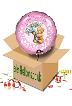 Mothers Day - I Love You Mum - Balloon in a Box I Love You Mum, My Love, Gifts Delivered, Flowers Delivered, Mothers, Balloons, Bouquet, Box, Floral