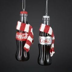 Amazon.com - COCA-COLA® COKE BOTTLE WITH SCARF ORNAMENT - 2 ASSORTED: COCA-COLA AND DIET COKE