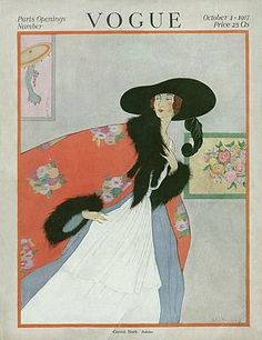Illustration Photograph - A Vintage Vogue Magazine Cover Of A Woman by Helen Dryden Vogue Vintage, Vintage Vogue Covers, Art Vintage, Vintage Posters, Vogue Magazine Covers, Fashion Magazine Cover, Magazine Art, Art Deco Illustration, Fashion Illustration Sketches