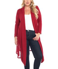 Love this Red Open Duster - Plus by BOLD & BEAUTIFUL on #zulily! #zulilyfinds