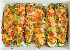Seriously Yummy Chicken Enchilada Zucchini Boats via Brit + Co. Ketogenic Diet Meal Plan, Diet Meal Plans, Ketogenic Recipes, Diet Recipes, Cooking Recipes, Healthy Recipes, Healthy Meals, Easy Recipes, Recipies