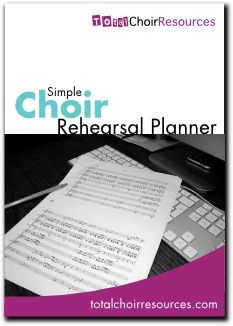 Total Choir Resources Rehearsal Planner