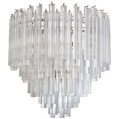 1960s vintage camer murano largest venini chandelier 204 crystals mid century camer and venini five tier crystal chandelier aloadofball Image collections