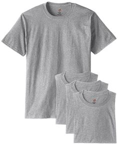 Hanes Men's ComfortSoft T-Shirt (Pack of 4), Light ST-Shi... https://www.amazon.com/dp/B00KBZP08Q/ref=cm_sw_r_pi_dp_QHsMxbFGR1HK4