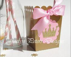 Paquete de fiesta de princesa rosa y oro. por PaperTrailbyLauraB