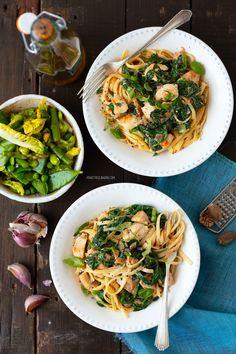 Grilled Lemon + Collard Green Pasta with Mushrooms — Better Happier Sauteed Vegetables, Veggies, Korean Side Dishes, Bbq Beef, Mushroom Pasta, Collard Greens, Dessert, Pasta Dishes, Pasta Recipes
