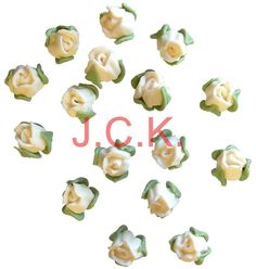 PACK OF 30 X SUGARPASTE ICING IVORY ROSE HEADS CAKE TOPPER DECORATING DECORATION