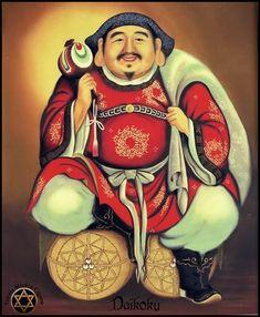 Estrela Mística Cigana: Shichi Fukujin (七福神) Os sete deuses de boa sorte (fortuna e felicidade). Japanese Mythology, Wide Face, Japan Tattoo, Oriental Furniture, Dearly Beloved, Buddhist Art, Japanese Art, Buddha, Princess Zelda