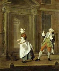 """""""A City Shower"""" by Edward Penny, 1764. Museum of London, Accession #88.126."""