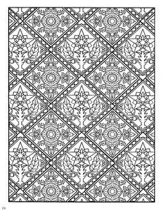 Decorative Tiles Prepossessing Coloring Page Tiles  Tiles  Coloring Pages  Pinterest  Adult Inspiration