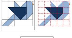 Olha o passarinho! Hoje vamos mais uma vez utilizar a técnica canto quebrado para criar um bloco ilustrativo - como fizemos no bloco casi... Quilt Square Patterns, Barn Quilt Patterns, Patchwork Quilt Patterns, Small Quilt Projects, Quilting Projects, Quilting Designs, Bird Quilt Blocks, Alphabet Quilt, Bird Applique