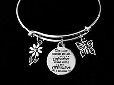 Mom or Dad Memorial Jewelry Adjustable Charm Bracelet Purple Awareness Ribbon Silver Expandable Bangle One Size Fits All Gift Other Ribbon Color Options