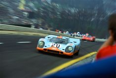 Zoom effect for added sense of speed.. Jo Siffert, Porsche 917, 1000km of Spa-Francorchamps 1971