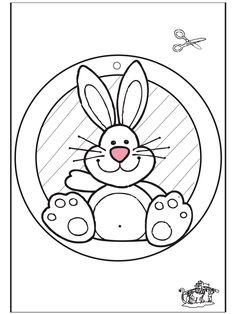 Adorno de ventana de Conejo de Pascua