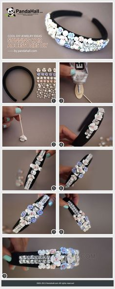 http://www.beadshop.com.br/?utm_source=pinterest&utm_medium=pint&partner=pin13 tiara com strass swarovski Jewelry Making Tutorial for headbands