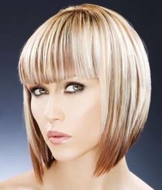 graduated bob hairstyles with fringe 2014 - Google Search