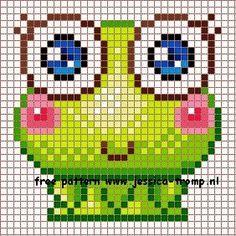 Kawaii Cross Stitch, Cross Stitch For Kids, Simple Cross Stitch, Cross Stitching, Cross Stitch Embroidery, Cross Stitch Patterns, Hama Beads Patterns, Beading Patterns, Pixel Crochet