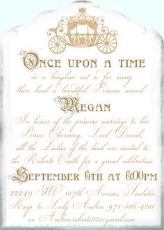 cinderella shower invitation invitation