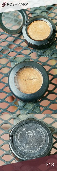 Mac Cosmetics Amber Lights Eyeshadow Used but will be Sanitized. Gorgeous Copper/ Gold eyeshadow! Frost Finish. Almost all product left! Ships in 1-3 days. 15% off Bundles! MAC Cosmetics Makeup Eyeshadow