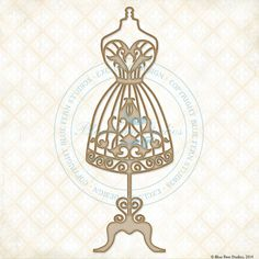 Back In Stock At Reneabouquets~ Blue Fern Studios Laser Cut Chipboard Sweetheart Dressform
