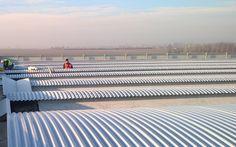 Copertura industriale dopo rimozione amianto