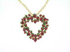 strawberry jewelry | Juicy Strawberry Necklace