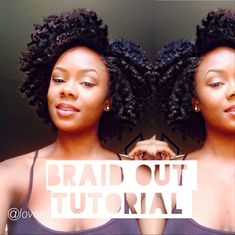 Natural Hair Braid Out Tutorial [Video] - https://blackhairinformation.com/video-gallery/natural-hair-braid-tutorial-video/