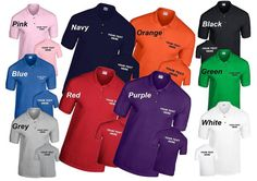 Personalized Custom Printed Polo Shirt Workwear or Leisure wear ideal for…