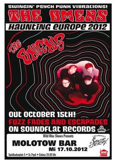 The Omens gig poster 2012