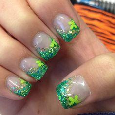 Alix's new St.. Patties nails!!!