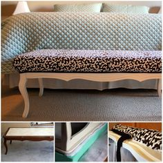 would love to repurpose a coffee table into bench for the end of the bed