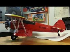 Guillows R/C Stearman Cropduster Build - YouTube