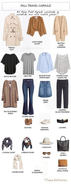 Fall Travel Capsule Wardrobe Fall is my absolute favorite time of year. It's also an ideal time to t Travel Capsule, Fall Capsule, Look Fashion, Winter Fashion, Womens Fashion, Spring Fashion, Capsule Wardrobe, Fall Travel Wardrobe, Fall Travel Outfit
