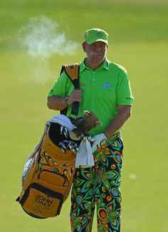 John Daly Carries His Own Golf Bag
