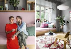 Heldigvis sprang de ud i projektet! Art Of Living, Living Room Interior, Townhouse, Beautiful Homes, Sweet Home, Gallery Wall, Inspiration, Home Decor, Cool Kunst