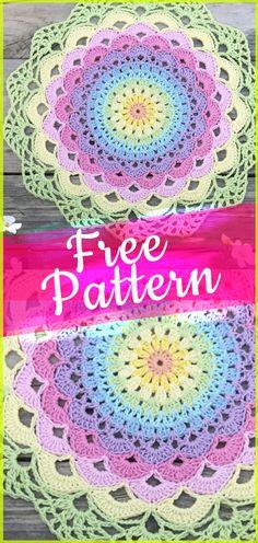 Magic Water Lily Mandala croche Pattern