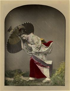 Rain Shower in the Studio by Baron Raimund Von Stillfried c.1875