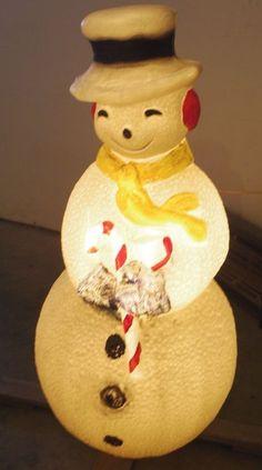 "Vintage Frosty Snowman Blow Mold 40"" tall Light Up Yard Decor"